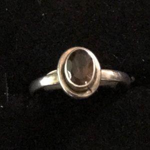 Vintage 925 Sterling Silver Amethyst Ring Size 5